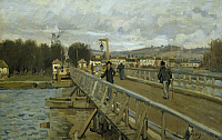 0305261 © Granger - Historical Picture ArchiveFINE ART.   Argenteuil footbridge, 1872, by Alfred Sisley (1839-1899). Full Credit: DEA / G. DAGLI ORTI / Granger, NYC -- All Rights Reserved.