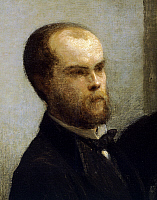 0305262 © Granger - Historical Picture ArchiveFINE ART.   Paul Verlaine, detail from Corner of a table, 1872, by Henri Fantin-Latour (1836-1904). Full Credit: DEA / G. DAGLI ORTI / Granger, NYC -- All rights reserved.