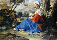 0305320 © Granger - Historical Picture ArchiveFINE ART.   Rest on the flight into Egypt, by Simone Cantarini (1612-1648), oil on canvas, 50x66.5 cm. Full Credit: DEA PICTURE LIBRARY / Granger, NYC -- All rights reserved.