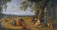 0305327 © Granger - Historical Picture ArchiveFINE ART.   Ferdinand IV with his family at the harvest at the Carditello estate, by Jacob Philipp Hackert (1737-1807). Detail. Full Credit: DEA / V. PIROZZI / Granger, NYC -- All Rights Reserved.