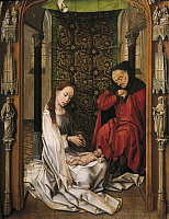 0305597 © Granger - Historical Picture ArchiveFINE ART.   The Nativity, by Rogier van der Weyden (1399-1464). Full Credit: DEA / G. DAGLI ORTI / Granger, NYC -- All Rights Reserved.