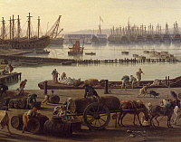0305617 © Granger - Historical Picture ArchiveFINE ART.   Loading of goods from the boats to wagons, detail from the port of Toulon, by Claude-Joseph Vernet (1714-1789). Full Credit: DEA PICTURE LIBRARY / Granger, NYC -- All Rights Reserved.