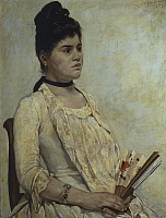 0306168 © Granger - Historical Picture ArchiveFINE ART.   Portrait of stepdaughter Giulia Marinelli, 1889, by Giovanni Fattori (1825-1908), oil on canvas, 71x55 cm. Full Credit: DEA / G. NIMATALLAH / Granger, NYC -- All rights