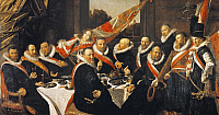 0306412 © Granger - Historical Picture ArchiveFINE ART.   Banquet of the Officers of the Civic Guard of St George at Haarlem, by Frans Hals (ca 1581-1666). Full Credit: DEA PICTURE LIBRARY / Granger, NYC -- All rights reserved