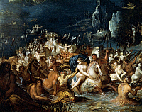 0306461 © Granger - Historical Picture ArchiveFINE ART.   Neptune's baths, by Frans Francken II or Francken the Younger (1581-1642). Detail. Full Credit: DEA / A. DAGLI ORTI / Granger, NYC -- All rights reserved.