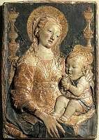 0306777 © Granger - Historical Picture ArchiveFINE ART.   Madonna and Child, by Antonio Rossellino (1427-1479). Full Credit: DEA / G. NIMATALLAH / Granger, NYC -- All Rights Reserved.