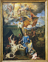 0307891 © Granger - Historical Picture ArchiveFINE ART.   Louis Licherie de Beurie or de Beuron (1629-1687), Saint Louis (King Louis IX) Healing the Plague-Stricken Soldiers, 1678-81, oil on canvas, 79,5x58,6 cm. Full Credit: DEA / G. DAGLI ORTI / Granger, NYC -- All rights reserved.