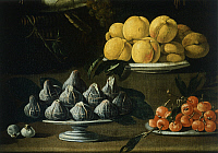 0308555 © Granger - Historical Picture ArchiveFINE ART.   Still life with fruits, vegetables and birds, by Jacopo da Empoli (1554-1640). Detail. Full Credit: DEA / G. NIMATALLAH / Granger, NYC -- All rights reserved.