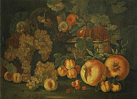 0308557 © Granger - Historical Picture ArchiveFINE ART.   Still life with fruit, by Pietro Paolo Bonzi (ca 1576-1636). Full Credit: DEA / G. NIMATALLAH / Granger, NYC -- All Rights Reserved.