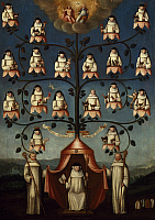 0308579 © Granger - Historical Picture ArchiveFINE ART.   Family tree of the Religious Order of Citeaux, painting. France, 17th Century. Full Credit: DEA / G. DAGLI ORTI / Granger, NYC -- All rights reserved.