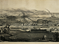 0309030 © Granger - Historical Picture ArchiveFINE ART.   France - 19th century - View of Montreau-les-Mines in 1857. Full Credit: DEA / G. DAGLI ORTI / Granger, NYC -- All Rights Reserved.