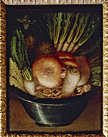 0309056 © Granger - Historical Picture ArchiveFINE ART.   Giuseppe Arcimboldo (also known as Arcimboldi, 1527-1593), Vegetables in a Bowl or The Gardener. Full Credit: DEA / G. DAGLI ORTI / Granger, NYC -- All rights reserved.