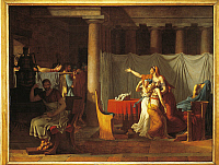 0309550 © Granger - Historical Picture ArchiveFINE ART.   Jacques-Louis David (1748-1825), The Lictors Bring to Brutus the Bodies of his Sons, 1789. Full Credit: DEA / E. LESSING / Granger, NYC -- All rights reserved.