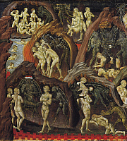 0309596 © Granger - Historical Picture ArchiveFINE ART.   Hell, detail from the Last Judgment, 1460-1465, by Giovanni di Paolo (active from ca 1420-1482). Full Credit: DEA / G. DAGLI ORTI / Granger, NYC -- All rights reserved.