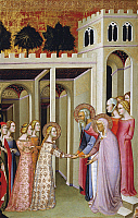 0309604 © Granger - Historical Picture ArchiveFINE ART.   The Virgin Mary greeting Anne and St Joachim, by Bartolo di Fredi (ca 1330-1410). Full Credit: DEA / G. DAGLI ORTI / Granger, NYC -- All rights reserved.