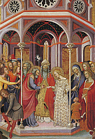 0309605 © Granger - Historical Picture ArchiveFINE ART.   Marriage of the Virgin Mary and Saint Joseph, by Bartolo di Fredi (ca 1330-1410). Full Credit: DEA / G. DAGLI ORTI / Granger, NYC -- All rights reserved.
