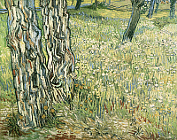 0309801 © Granger - Historical Picture ArchiveFINE ART.   Tree trunks in the grass, 1890, by Vincent van Gogh (1853-1890). Full Credit: DEA PICTURE LIBRARY / Granger, NYC -- All Rights Reserved.