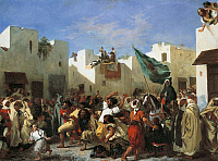 0309942 © Granger - Historical Picture ArchiveFINE ART.   Fanatics of Tangier, 1838, by Eugene Delacroix (1798-1863). Full Credit: DEA PICTURE LIBRARY / Granger, NYC -- All Rights Reserved.