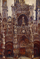 0310109 © Granger - Historical Picture ArchiveFINE ART.   Rouen Cathedral (front portal; harmony brown), 1892, by Claude Monet (1840-1926), oil on canvas, 107x73 cm. Full Credit: DEA / G. DAGLI ORTI / Granger, NYC -- All right