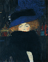 0310186 © Granger - Historical Picture ArchiveFINE ART.   Lady with a hat and a feather boa, by Gustav Klimt (1862-1918). Full Credit: DEA / E. LESSING / Granger, NYC -- All Rights Reserved.