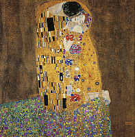 0310203 © Granger - Historical Picture ArchiveFINE ART.   The kiss, 1907, by Gustav Klimt (1862-1918), oil on canvas, 180x180 cm. Full Credit: DEA / E. LESSING / Granger, NYC -- All Rights Reserved.