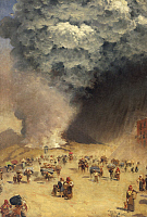 0310252 © Granger - Historical Picture ArchiveFINE ART.   Eruption of Vesuvius, 1872, by Giuseppe de Nittis (1846-1884), oil on canvas, 42x28.5 cm. Full Credit: DEA / N. GRIFONI / Granger, NYC -- All rights reserved.