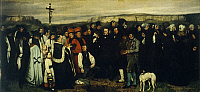 0310347 © Granger - Historical Picture ArchiveFINE ART.   A Burial at Ornans, 1849-1850, by Gustave Courbet (1819-1877). Full Credit: DEA / G. DAGLI ORTI / Granger, NYC -- All Rights Reserved.