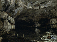 0310413 © Granger - Historical Picture ArchiveFINE ART.   The grotto of the Loue, 1864, by Gustave Courbet (1819-1877). Full Credit: DEA PICTURE LIBRARY / Granger, NYC -- All Rights Reserved.
