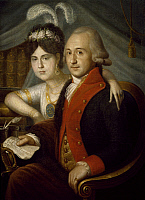 0310446 © Granger - Historical Picture ArchiveFINE ART.   Russian provincial nobles. Russia 18th century. Full Credit: DEA / A. DAGLI ORTI / Granger, NYC -- All right