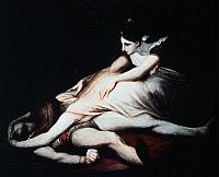 0310563 © Granger - Historical Picture ArchiveFINE ART.   Kriemhild throws herself on Siegfried's corpse, 1817, by Johann Heinrich Fussli (1741-1825), 102x127 cm. Full Credit: DEA PICTURE LIBRARY / Granger, NYC -- All rights r