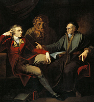 0310564 © Granger - Historical Picture ArchiveFINE ART.   The artist in conversation with Johann Jakob Bodmer, 1778-1781, by Johann Heinrich Fussli (1741-1825), 163x150 cm. Full Credit: DEA PICTURE LIBRARY / Granger, NYC -- All Rights Reserved.