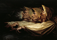 0310566 © Granger - Historical Picture ArchiveTHE THREE WITCHES.   'The Three Witches,' 1783, by Johann Heinrich Fussli (1741-1825), 65x91 cm. Full Credit: DEA PICTURE LIBRARY / Granger, NYC -- All rights reserved.