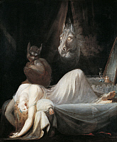 0310582 © Granger - Historical Picture ArchiveFINE ART.   The nightmare, 1790-1791, by Johann Heinrich Fussli (1741-1825), oil on canvas, 75x64 cm. Full Credit: DEA PICTURE LIBRARY / Granger, NYC -- All rights reserved.