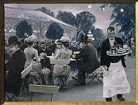 0310738 © Granger - Historical Picture ArchiveFINE ART.   Paul Fischer (1860-1935). An evening in the Tivoli gardens in Copenhagen, 1890. Full Credit: DEA / A. DAGLI ORTI / Granger, NYC -- All rights reserved.