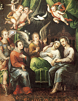 0311352 © Granger - Historical Picture ArchiveFINE ART.   Death of St Joseph, by Juan Correa (1646-1716). Full Credit: DEA / G. DAGLI ORTI / Granger, NYC -- All right