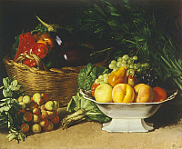 0311869 © Granger - Historical Picture ArchiveFINE ART.   Still life with peppers, 1861, by Gioacchino Toma (1836-1891), oil on canvas, 44x52 cm. Full Credit: DEA / PEDICINI / Granger, NYC -- All rights reserved.