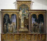 0312135 © Granger - Historical Picture ArchiveFINE ART.   The wise virgins and the foolish virgins, 1890-1891, by Giulio Aristide Sartorio (1860-1932), triptych, oil on canvas, 188x205 cm. Full Credit: DEA / A. DAGLI ORTI / Granger, NYC -- All Rights Reserved.