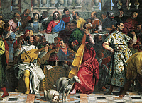 0312216 © Granger - Historical Picture ArchiveFINE ART.   Figures of musicians, detail from the central part of the Wedding at Cana, 1563, by Paolo Caliari known as Veronese (1528-1588). Full Credit: DEA PICTURE LIBRARY / Granger, NYC -- All Rights Reserved.