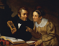 0312926 © Granger - Historical Picture ArchiveFINE ART.   Portrait of parents, 1832, by Pietro Fabris (1754-1804). Full Credit: DEA / O. BOHM / Granger, NYC -- All ri.