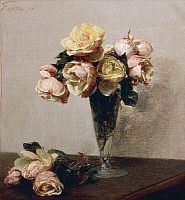0313096 © Granger - Historical Picture ArchiveFINE ART.   Rose, 1878, by Henri Fantin-Latour (1836-1904), oil on canvas, 35x32 cm. Full Credit: DEA / G. DAGLI ORTI / Granger, NYC -- All rights reserved.