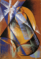 0313957 © Granger - Historical Picture ArchiveFINE ART.   Giacomo Balla (1871-1958), Mercury before the Sun as Seen through a Telescope, 1914, tempera on canvas, 138x99 cm. Full Credit: Copyright DEA / E. LESSING / Granger, NYC -- All Rights Reserved.