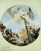 0313986 © Granger - Historical Picture ArchiveFINE ART.   The discovery of the True Cross, 1890, by Lazzaro Luxardo (1865-1949), oil on canvas, 67x56 cm. Copy of a Tiepolo work. Full Credit: Copyright DEA / L. VISCONTI / Granger, NYC -- All Rights Reserved.