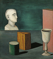 0314036 © Granger - Historical Picture ArchiveFINE ART.   Carlo Carrà (1881-1966), Metaphysical Still Life, 1919. Full Credit: Copyright DEA / A. DAGLI ORTI / Granger, NYC -- All Rights Reserved.