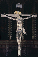 0314164 © Granger - Historical Picture ArchiveFINE ART.   Crucifix, 1444-1447, by Donatello (ca 1386-1466), bronze, 180x166 cm. Basilica of St Anthony of Padua in Padua, Veneto. Full Credit: DEA / A. DAGLI ORTI / Granger, NYC -- All Rights Reserved.