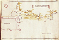 0314174 © Granger - Historical Picture ArchiveFINE ART.   Cartography, Italy, 18th century. Map of Sansepolcro and its fortress, Tuscany region, Italy. Full Credit: DEA PICTURE LIBRARY / Granger, NYC -- All rights reserved.