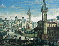 0314287 © Granger - Historical Picture ArchiveFINE ART.   View of Perugia, Italy 14th Century. Full Credit: DEA PICTURE LIBRARY / Granger, NYC -- All rights reserved.