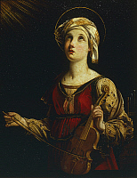 0314622 © Granger - Historical Picture ArchiveFINE ART.   Saint Cecilia, 1607-1608, by Guido Reni (1575-1642), oil on canvas. Full Credit: DEA PICTURE LIBRARY / Granger, NYC -- All Rights Reserved.