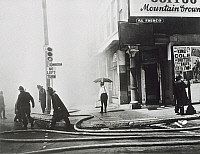 0314653 © Granger - Historical Picture ArchiveFINE ART.   Firefighters in action in New York, United States of America 20th century. Full Credit: DEA PICTURE LIBRARY / Granger, NYC -- All rights reserved.