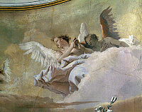 0314951 © Granger - Historical Picture ArchiveFINE ART.   Glory of the Angels, 1759, by Giovanni Battista Tiepolo (1696-1770), fresco. Detail. Oratory of Purity, Udine. Full Credit: DEA / A. DE GREGORIO / Granger, NYC -- All Rights Reserved.