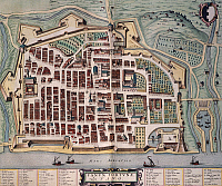0315006 © Granger - Historical Picture ArchiveFINE ART.   Map of Fano, Italy 17th Century. Full Credit: DEA / A. DAGLI ORTI / Granger, NYC -- All rights reserved.